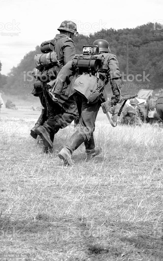 Advancing Infantry. royalty-free stock photo