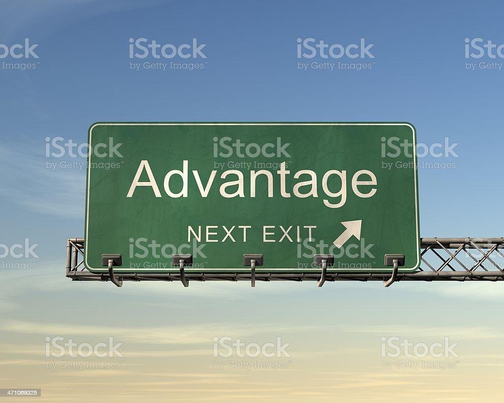 Advantage の道路標識 ロイヤリティフリーストックフォト