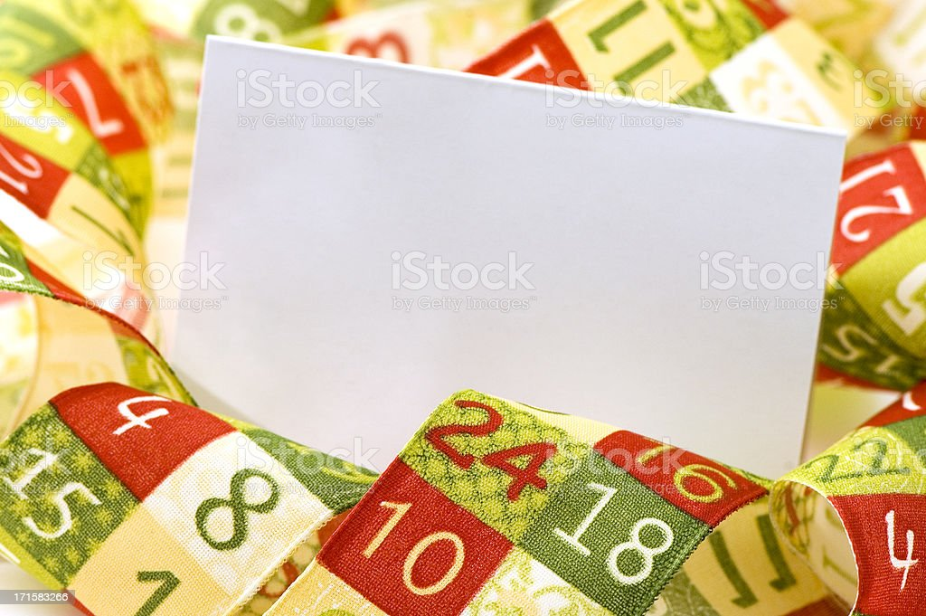 Advent Blank Card royalty-free stock photo