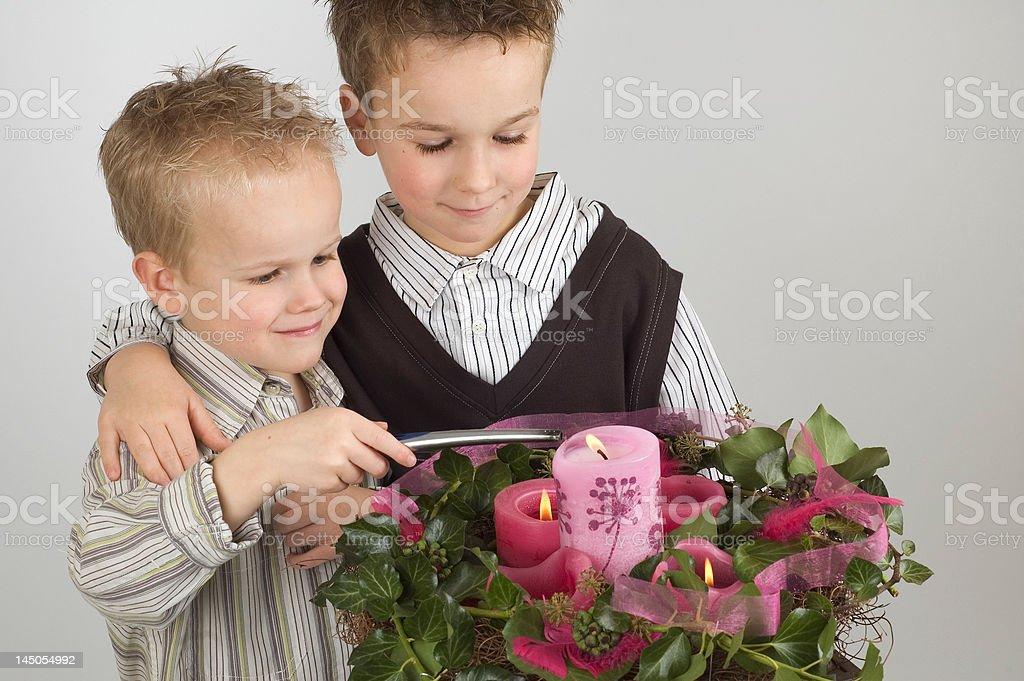 Advent Boys royalty-free stock photo