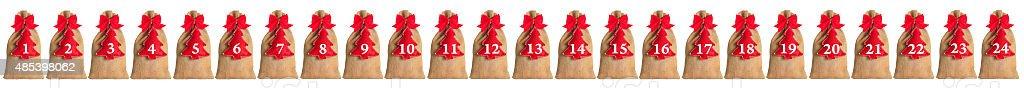Advent calendar isolated stock photo