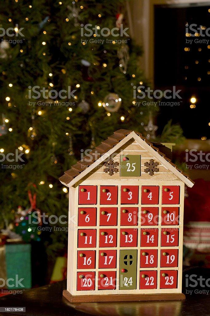 advent calendar royalty-free stock photo