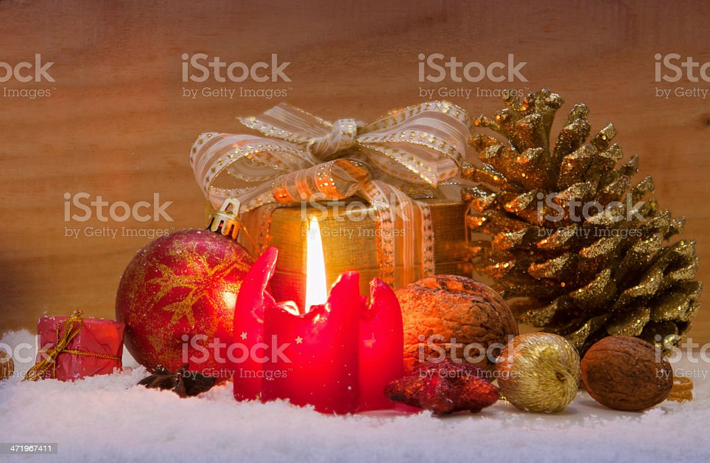 Advent candle. stock photo