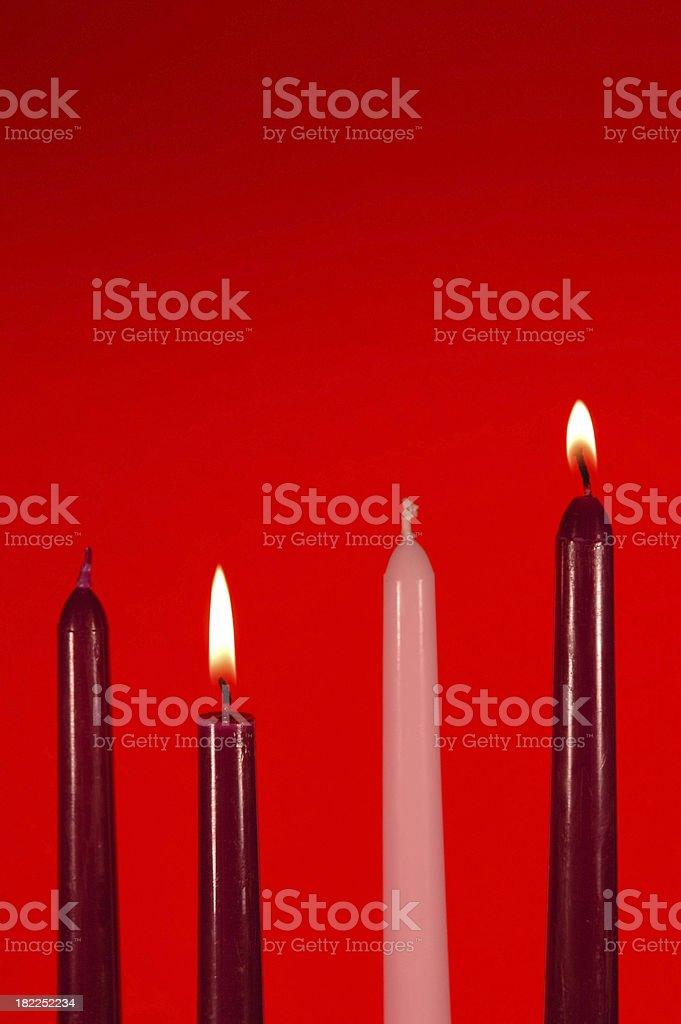 Рождественский свеча Неделя 2 Стоковые фото Стоковая фотография