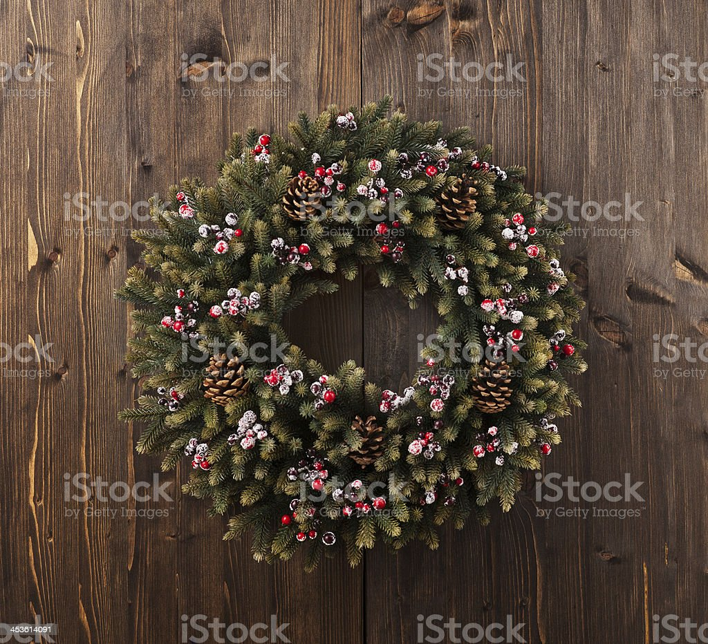 Advent Christmas wreath decoration stock photo