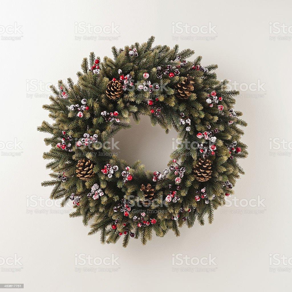 Advent Christmas wreath stock photo