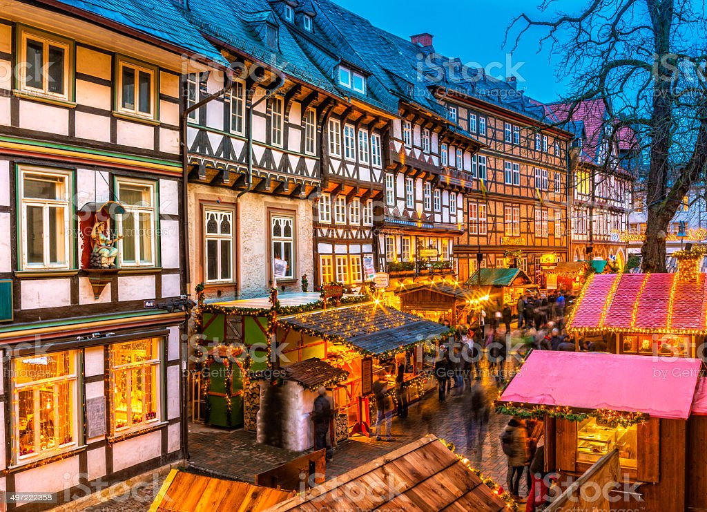 Advent in the Old Town of Goslar stock photo