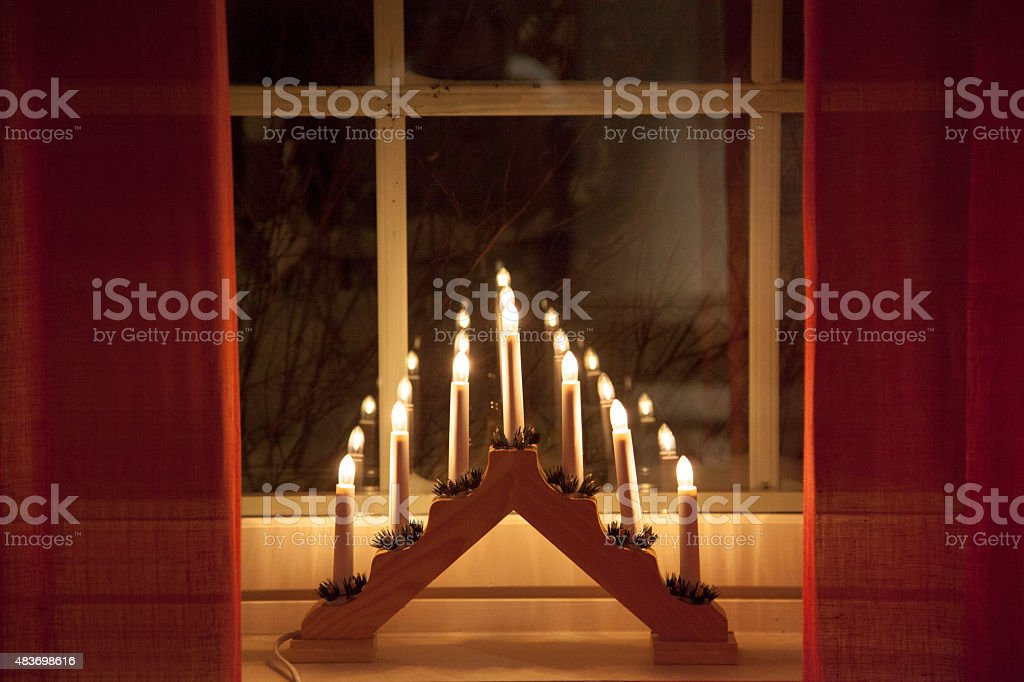 Advent lights stock photo