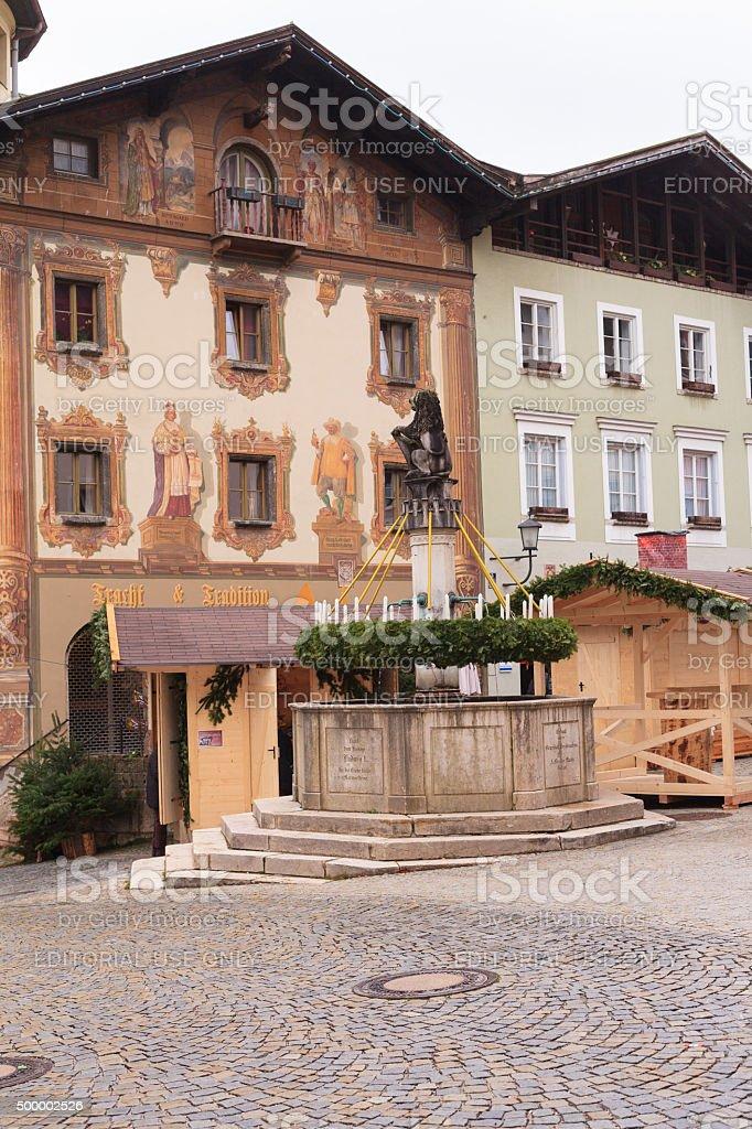 Advent market in Berchtesgaden stock photo