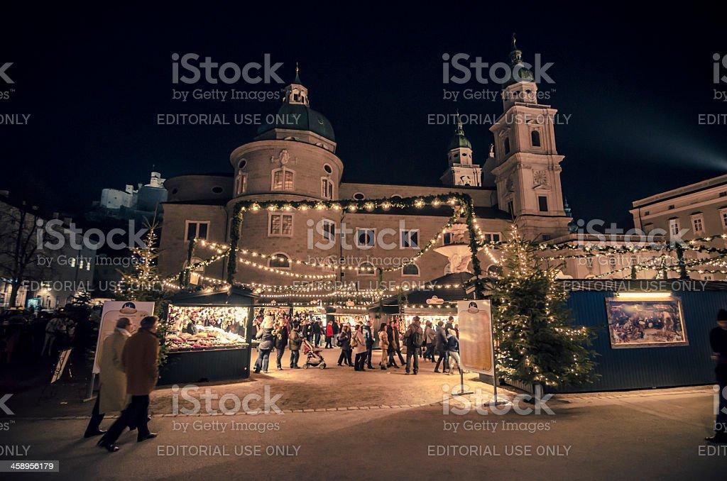 advent market salzburg royalty-free stock photo
