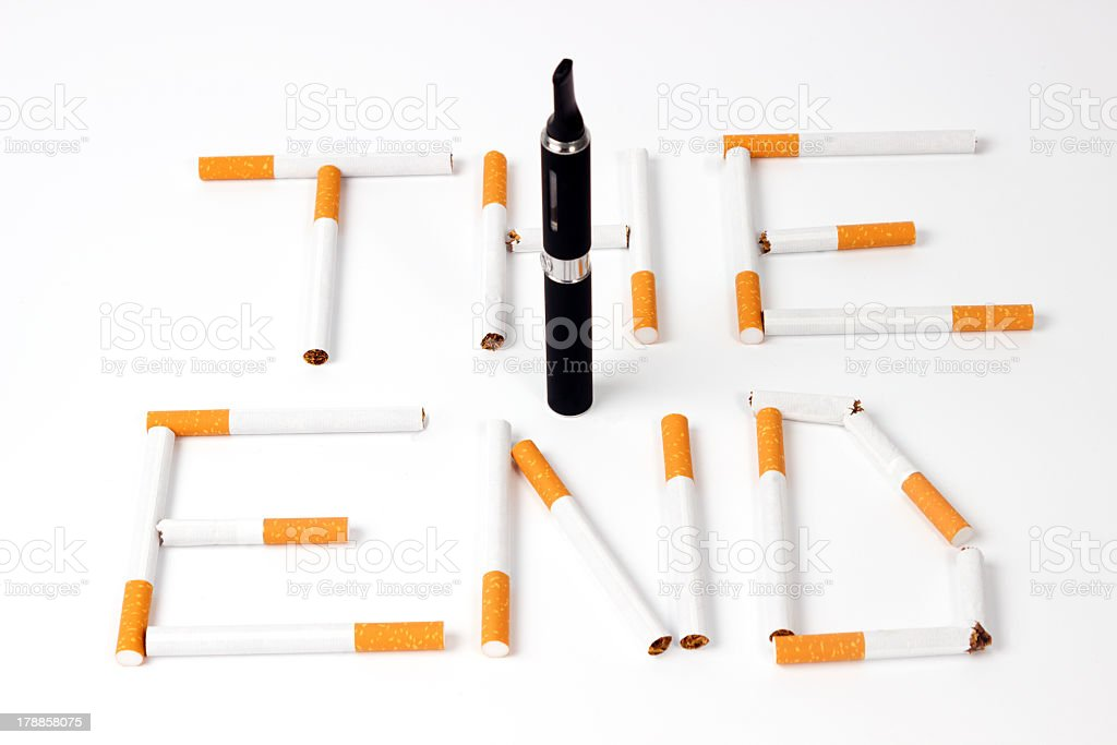 Advent of the electronic cigarette stock photo