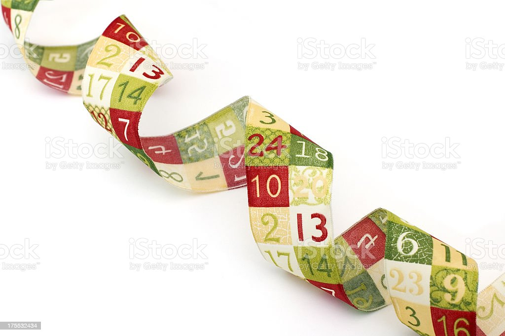 Advent Ribbon with numbers royalty-free stock photo
