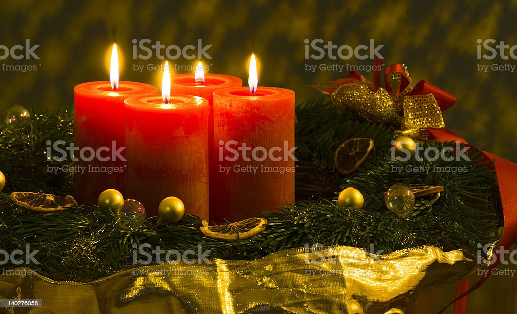 Advent wreath /2 royalty-free stock photo
