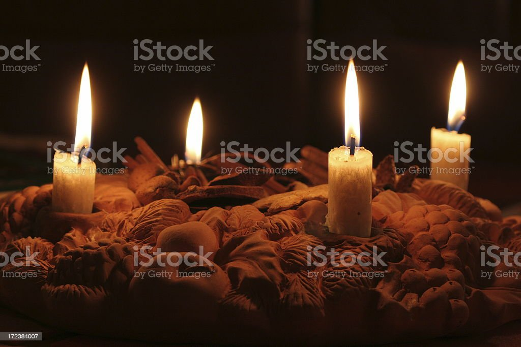 Advent wreath. royalty-free stock photo