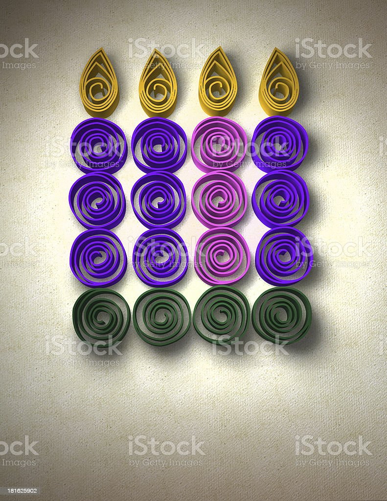 Advent Wreath royalty-free stock photo