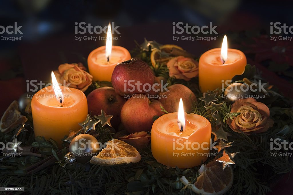 Advent wreath stock photo