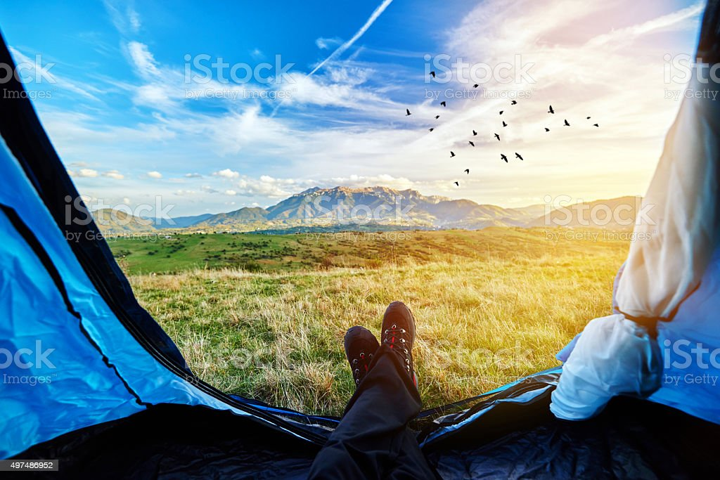 adventure and freedom stock photo