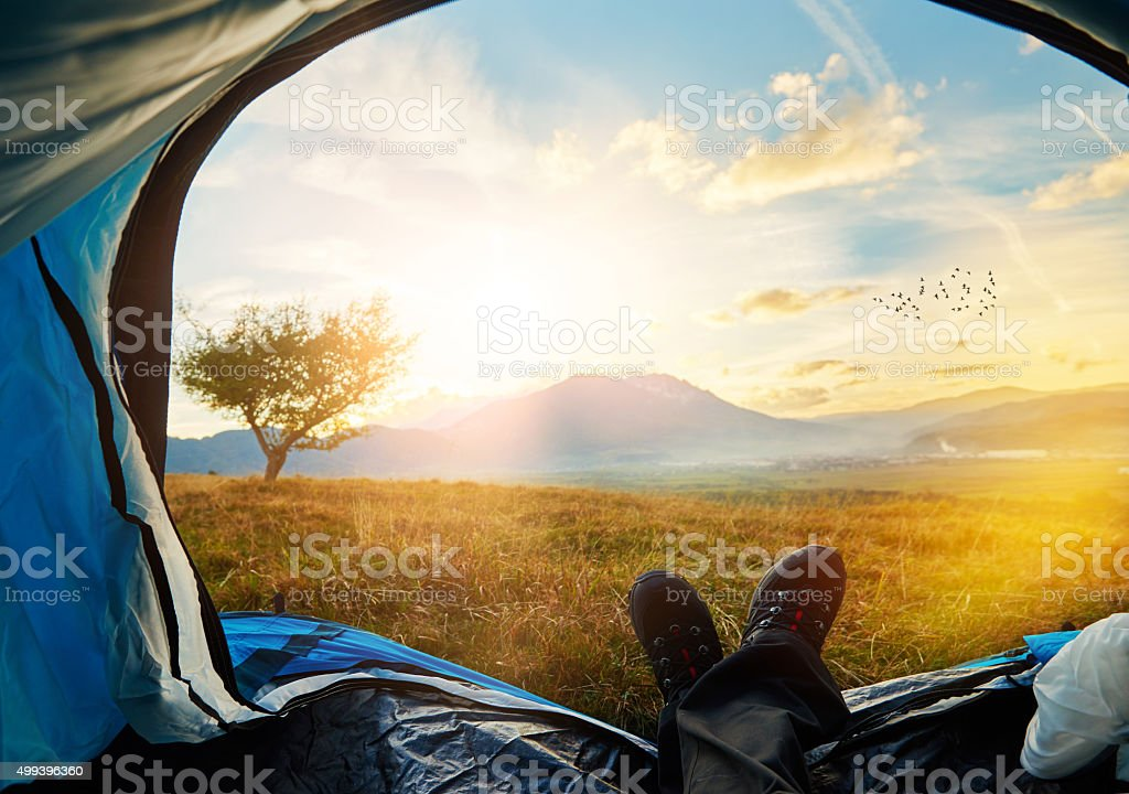 adventure and relax stock photo