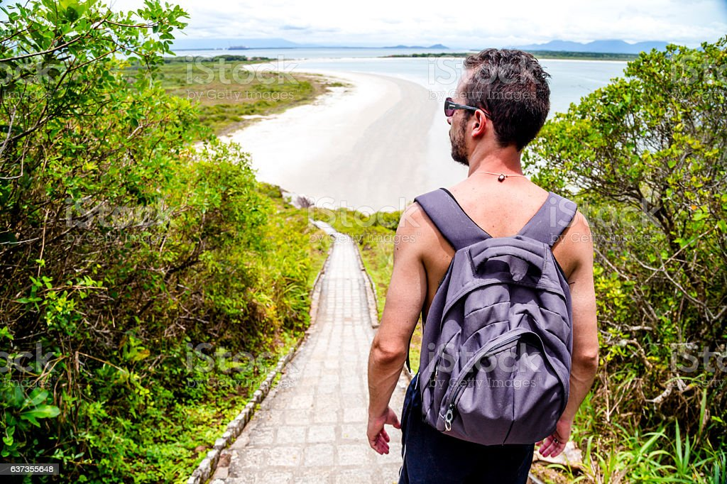 Adventure at Ilha do Mel stock photo