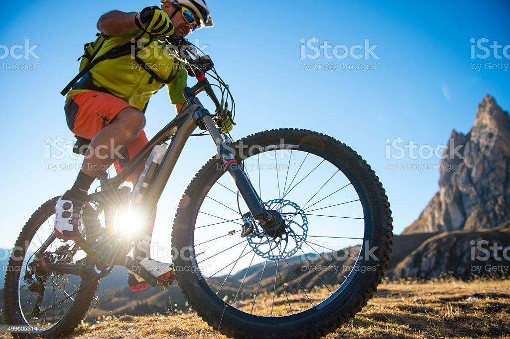 adventure biker stock photo