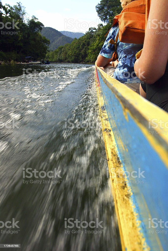 Adventure boat ride royalty-free stock photo