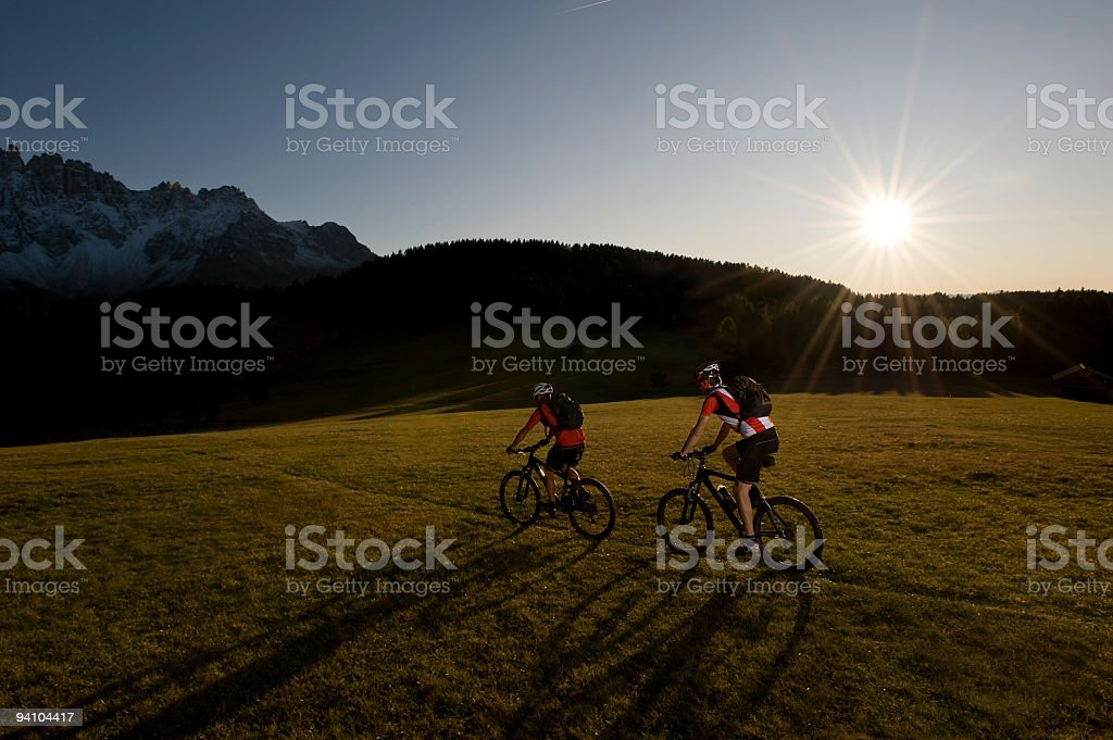 adventure cycling in the nature royalty-free stock photo