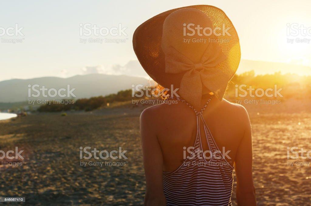Adventure for happy woman stock photo