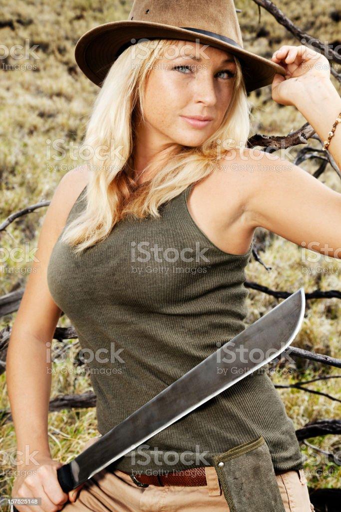 Adventure Girl stock photo