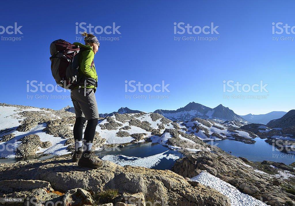 Adventure Hiking royalty-free stock photo