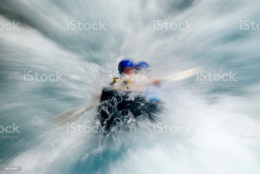 Adventure in water royalty-free stock photo