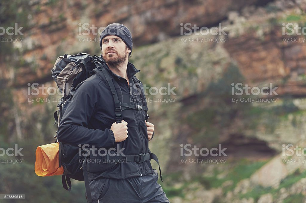 adventure man stock photo