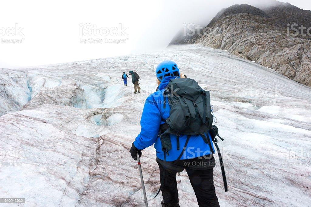 Adventure on Lemon Glacier stock photo