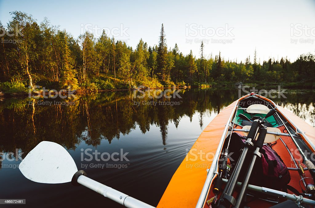 Adventure on the water stock photo