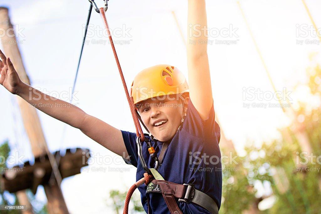 Adventure park fun stock photo