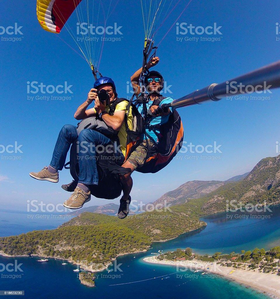 Adventure photographers. stock photo