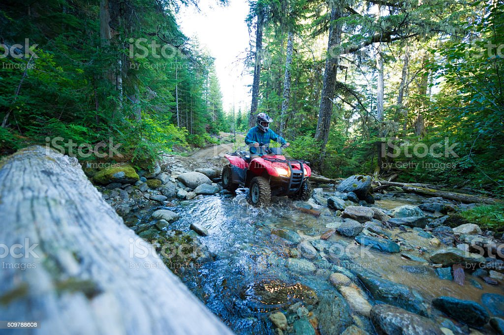 ATV adventure stock photo