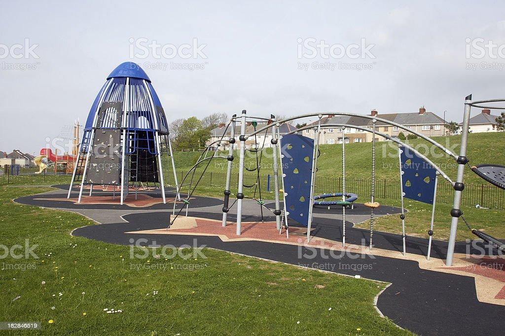 Adventure playground equipment royalty-free stock photo