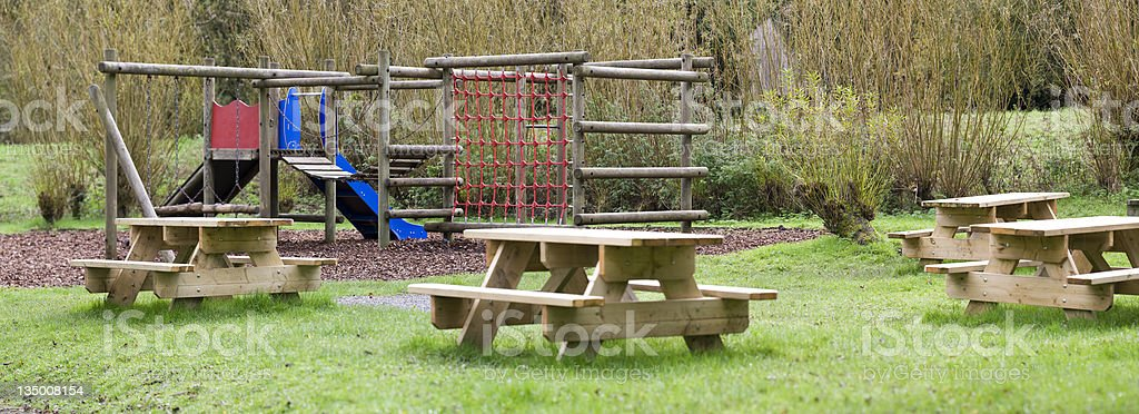 Adventure playground stock photo