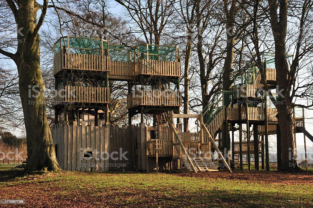 adventure playground stock photo