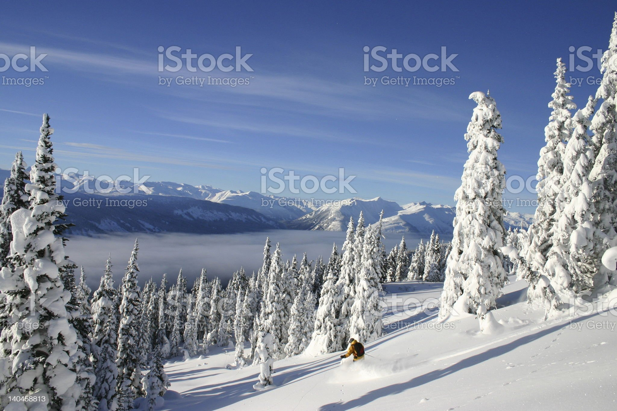 Adventure Skiing royalty-free stock photo