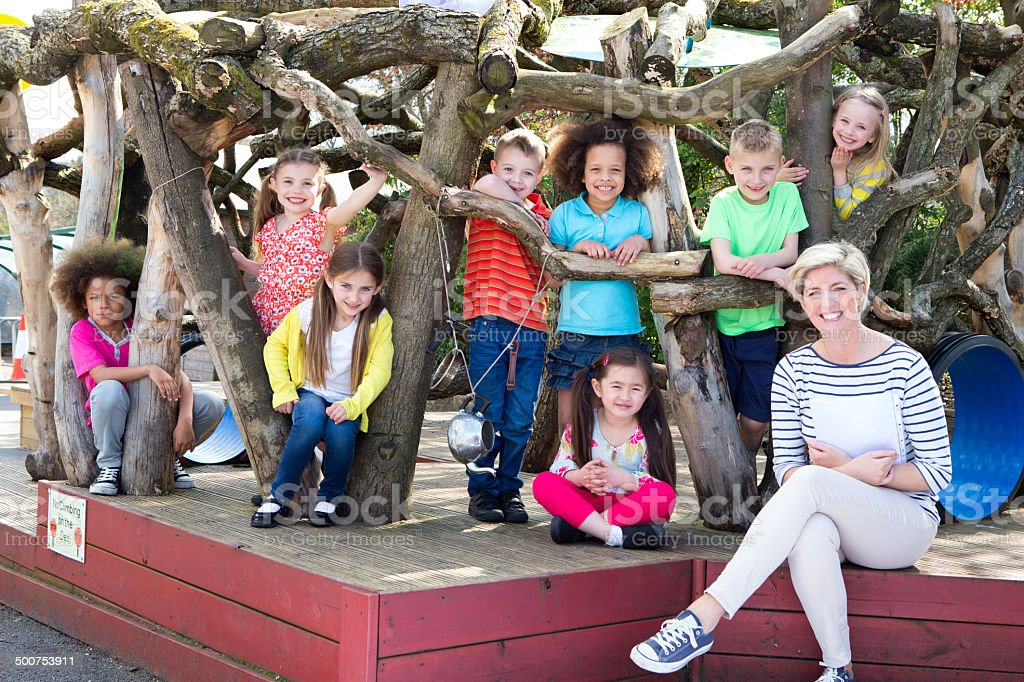 Adventure Wooden Playhouse stock photo