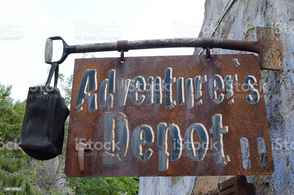 Adventurers depot - last shop before the wilderness stock photo