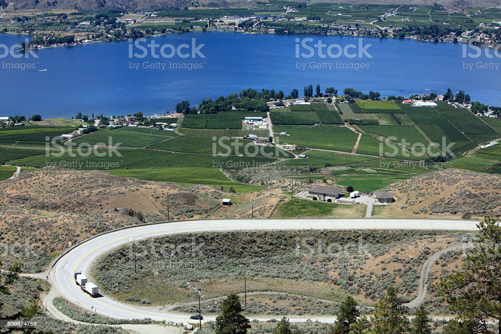 Adventuresome Road Trip Into Osoyoos BC stock photo