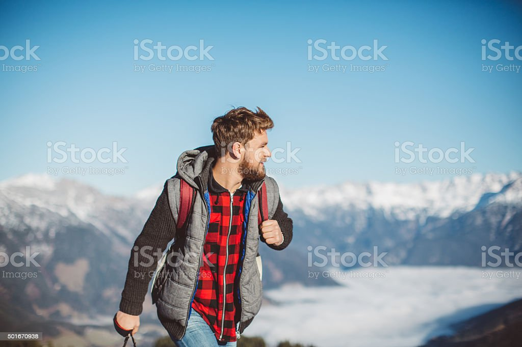 Adventuring over the weekend stock photo