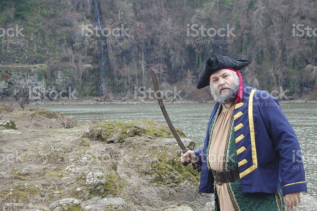Adventuring Pirate stock photo