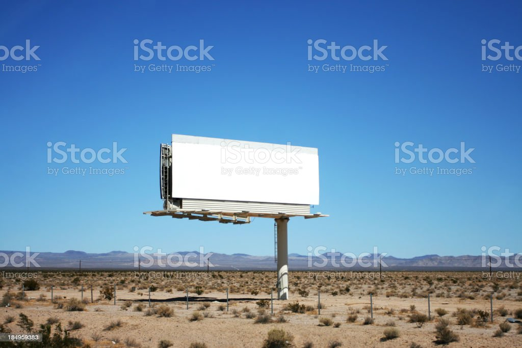 Advertise Here royalty-free stock photo