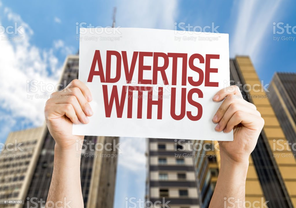 Advertise With Us stock photo
