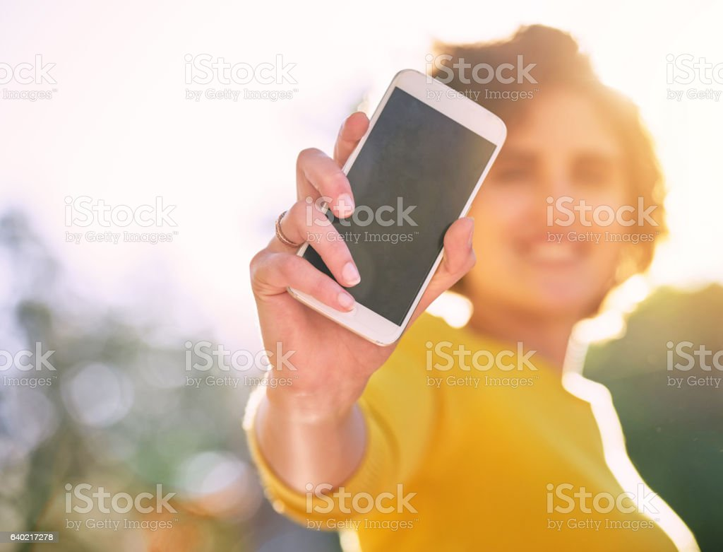 Advertise your new app here! stock photo