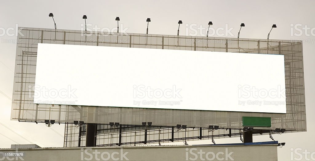 Advertisement Banner Space royalty-free stock photo