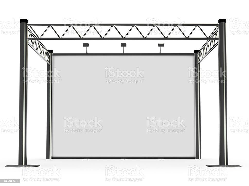 advertisement Exhibition stand stock photo